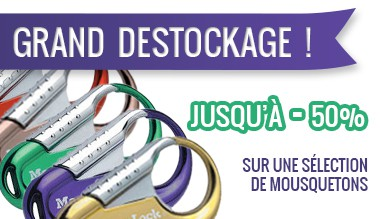 Destockage mousquetons