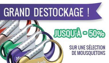 Destockage mousquetons