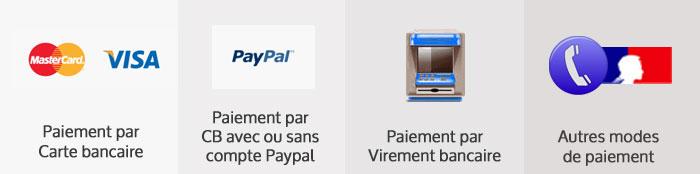 Modes de paiement sécurisés chez moncadenas.fr